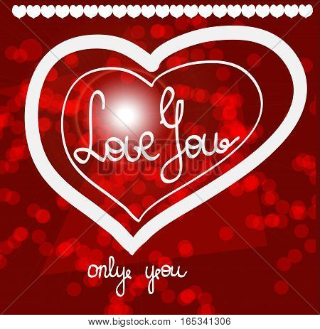 I love you shirt design or tattoo, wedding invitations, cards, Valentine s day. vector