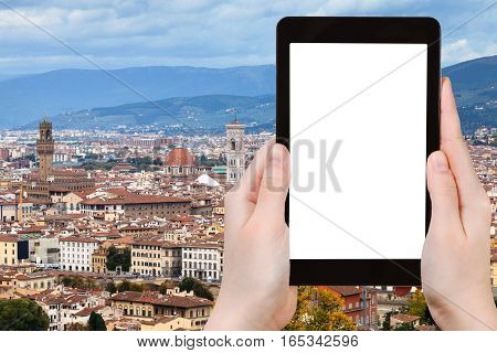 Tourist Photographs Florence Cityscape