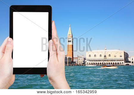 Tourist Photographs Venice Skyline