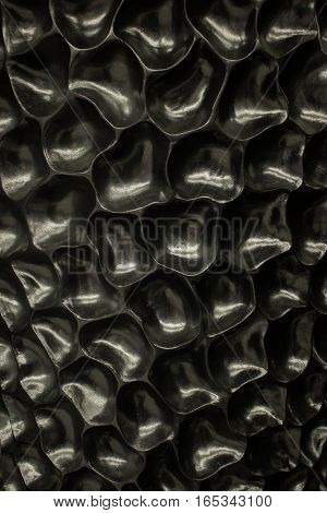 black cells background, unusual texture with membrane
