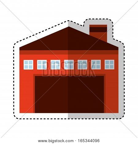 garage building isolated icon vector illustration design