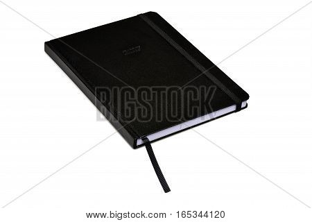 Black Hard Cover Planner Isolated
