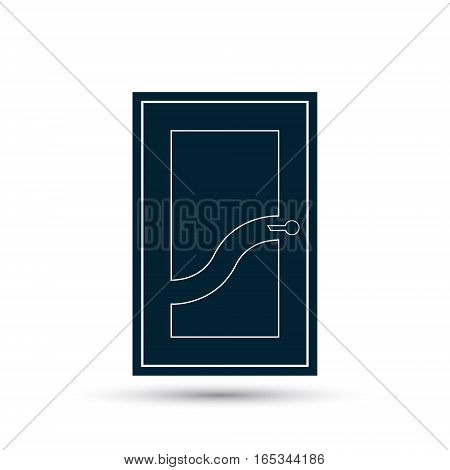 Door icon vector black illustration isolated on white.