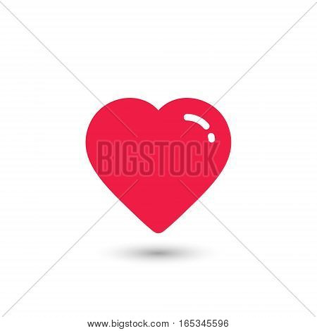 Heart Icon Vector. Love symbol. Valentine's Day sign isolated on white background.