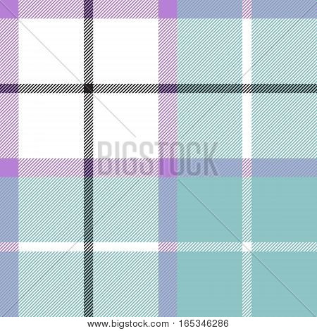 Soft warm plaid baby color seamless pattern fabric texture. Vector illustration. Flat design. EPS10.