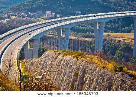 Crni Kal Viaduct In Slovenia View