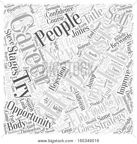 Career Strategies with Hypnosis How Hypnosis Can Boost Your Confidence and Improve Your Career Word Cloud Concept