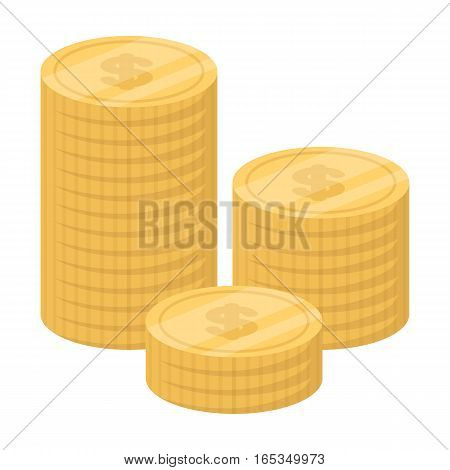 Money donation icon in cartoon design isolated on white background. Charity and donation symbol stock vector illustration.