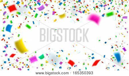 Celebration. Bright colorful vector confetti background, illustration