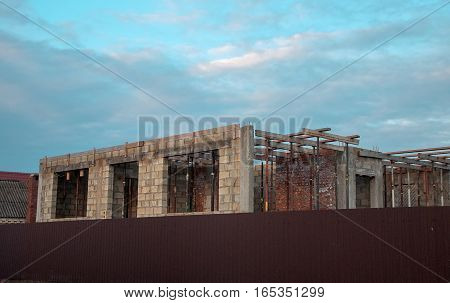 house, building, cost, house, real estate, beautiful, brick, brick large, white, brick, building, construction