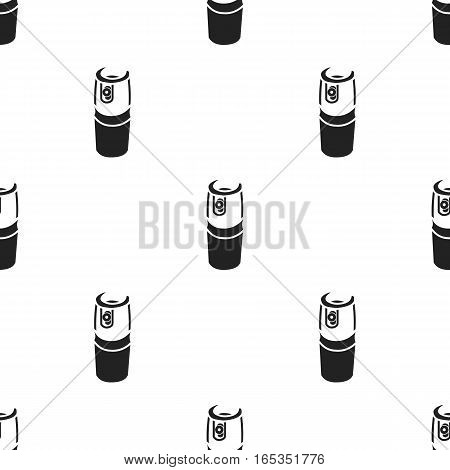 Gas canister icon in black style isolated on white background. Weapon pattern vector illustration.