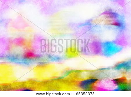 A digitally painted watercolour background texture effect.