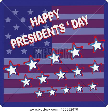 Emblem. PRESIDENTIAL DAY. Symbols of the United States. Design cards, flyers, greeting occasion.