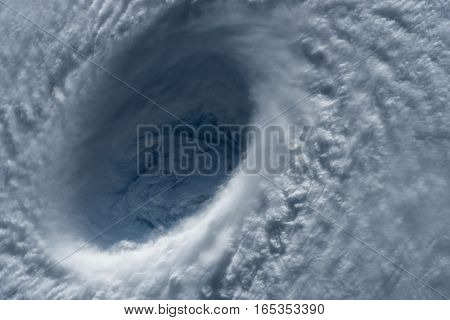Typhoon, satellite view. Elements of this image furnished by NASA.