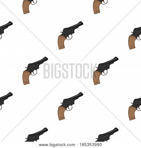Revolver icon cartoon. Singe western icon from the wild west cartoon. - stock vector