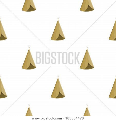 Wigwam icon cartoon. Singe western icon from the wild west cartoon. - stock vector