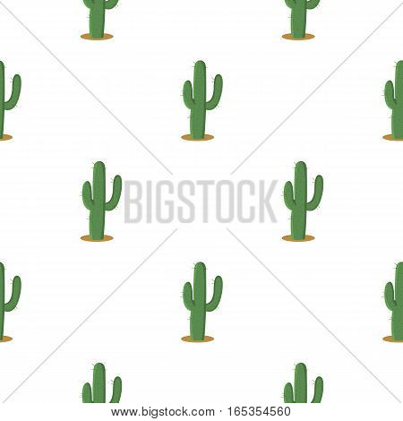 Cactus icon cartoon. Singe western icon from the wild west cartoon. - stock vector