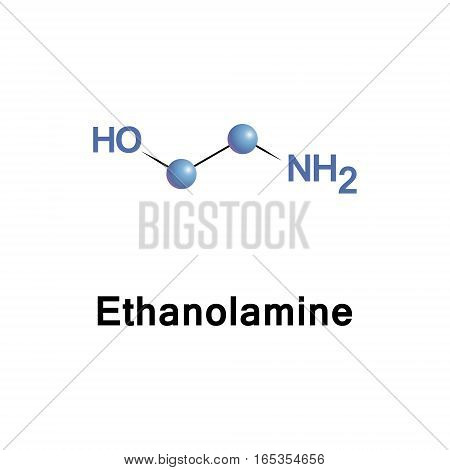 Ethanolamine is an organic chemical compound. The molecule is both a primary amine and a primary alcohol.