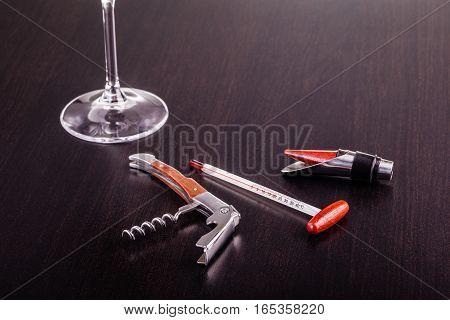 Wine Tools On Table