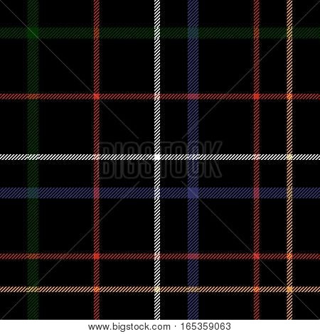 Сheckered black plaid seamless pattern. Vector illustration. Flat design. No gradient. No transparent. EPS 10.