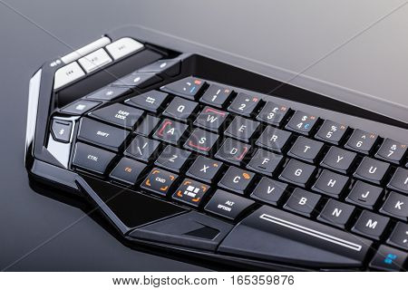 Gaming Keyboard On Black Surface