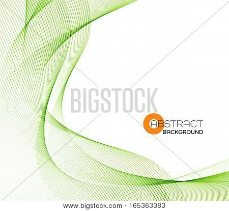 Vector Abstract color green wave design element.