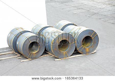 Rusty Rolled Metal