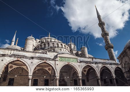 Istanbul, Turkey - 06 May 2016: The Blue Mosque, (sultanahmet Camii)