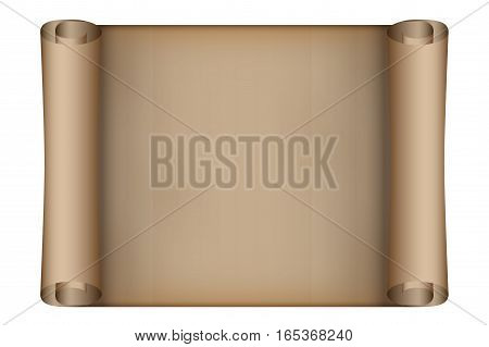 Old Scrolled Paper. Vector illustration Isolated on white background.