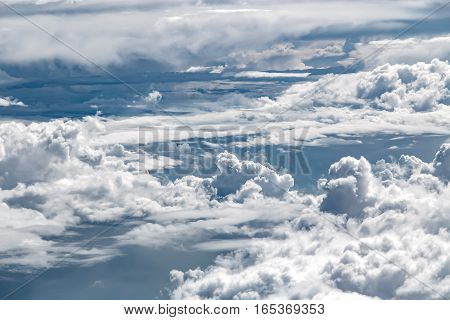 White Clouds, View From Above Air Plane Window