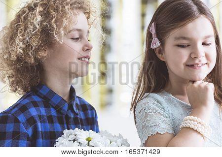 Boy Flirting With Girl