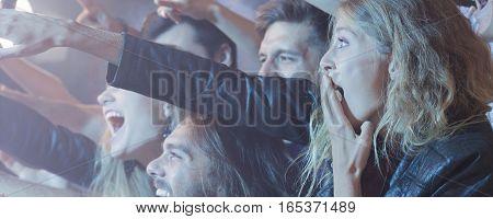 People Enjoying Their Favourite Band