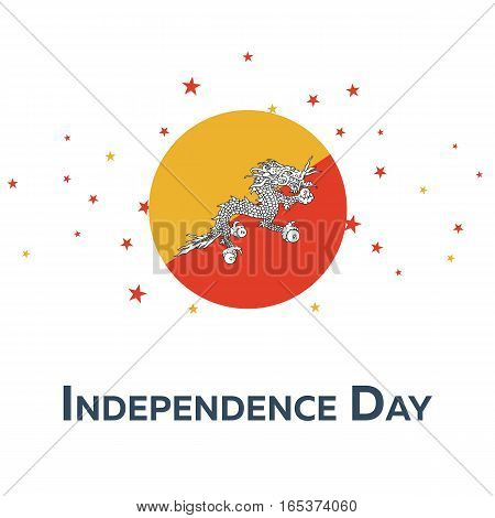 Independence Day Of Bhutan. Patriotic Banner. Vector Illustration.