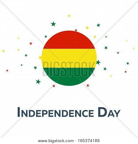Independence Day Of Bolivia. Patriotic Banner. Vector Illustration.