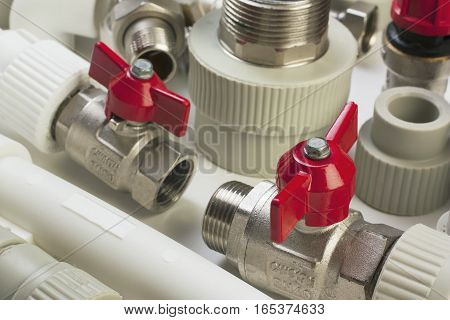 the Plumbing fixtures and a piping parts