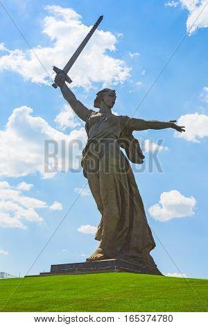 Motherland Calls Is A Statue In Mamayev Kurgan
