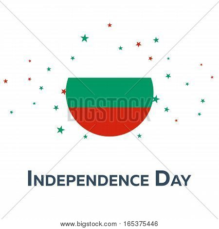 Independence Day Of Bulgaria. Patriotic Banner. Vector Illustration.