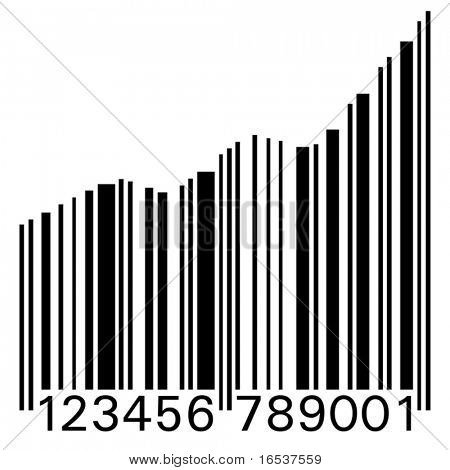 Conceptual illustration of a barcode as statistic graph