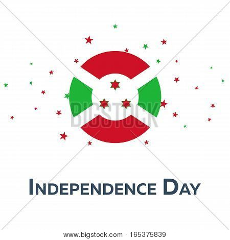 Independence Day Of Burundi. Patriotic Banner. Vector Illustration.
