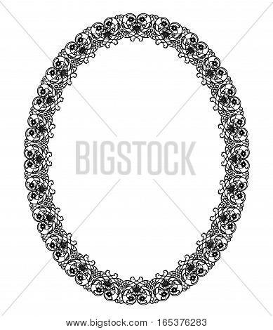 Elegant black frame on a white background