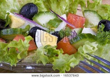 Salad With Egg And Tomato