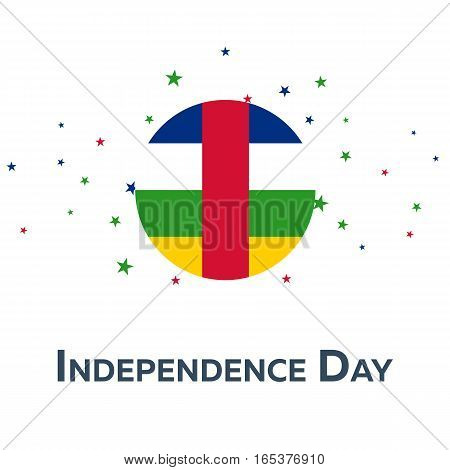Independence Day Of Central African Republic. Patriotic Banner. Vector