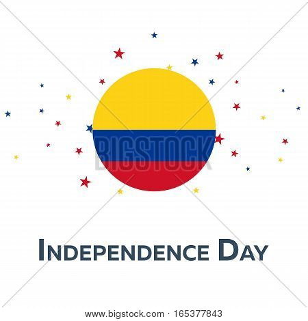Independence Day Of Colombia. Patriotic Banner. Vector Illustration.