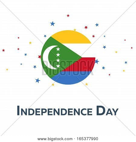 Independence Day Of Comoros. Patriotic Banner. Vector Illustration.