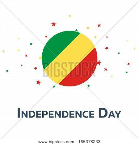 Independence Day Of Republic Of The Congo. Patriotic Banner. Vector Illustration.