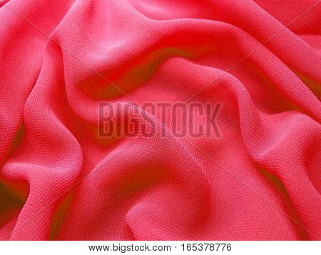 red abstract texture background silk cloth waves silky material