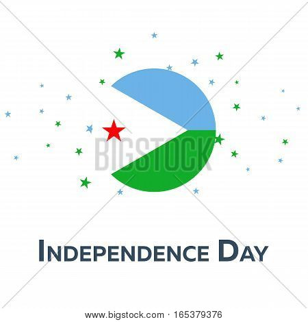 Independence Day Of Djibouti. Patriotic Banner. Vector Illustration.