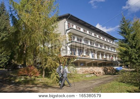 Wisla, Poland - October 23, 2016: Shelter For Przyslop On 23 Oct
