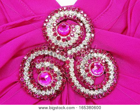 jewelry brooch love valentine's day with satin background