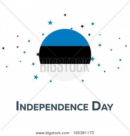 Independence Day Of Estonia. Patriotic Banner. Vector Illustration.